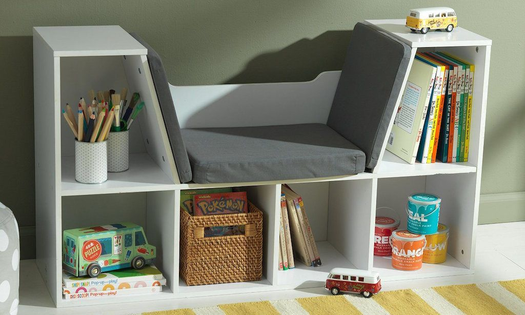 Kids Bookshelf With White And Also Small Lay On The Floor To Be Easily Accessible Your Child
