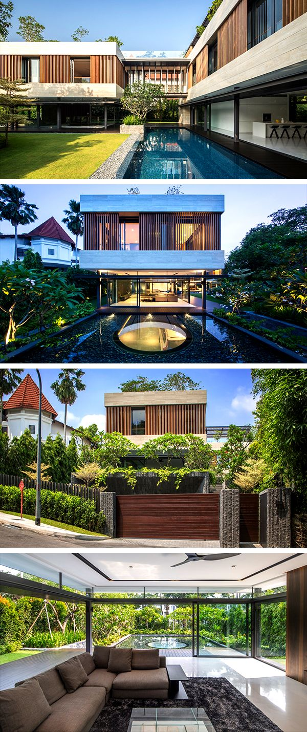 Secret Garden House by Wallflower Architecture + Design in Singapore -   11 garden design Luxury architecture ideas