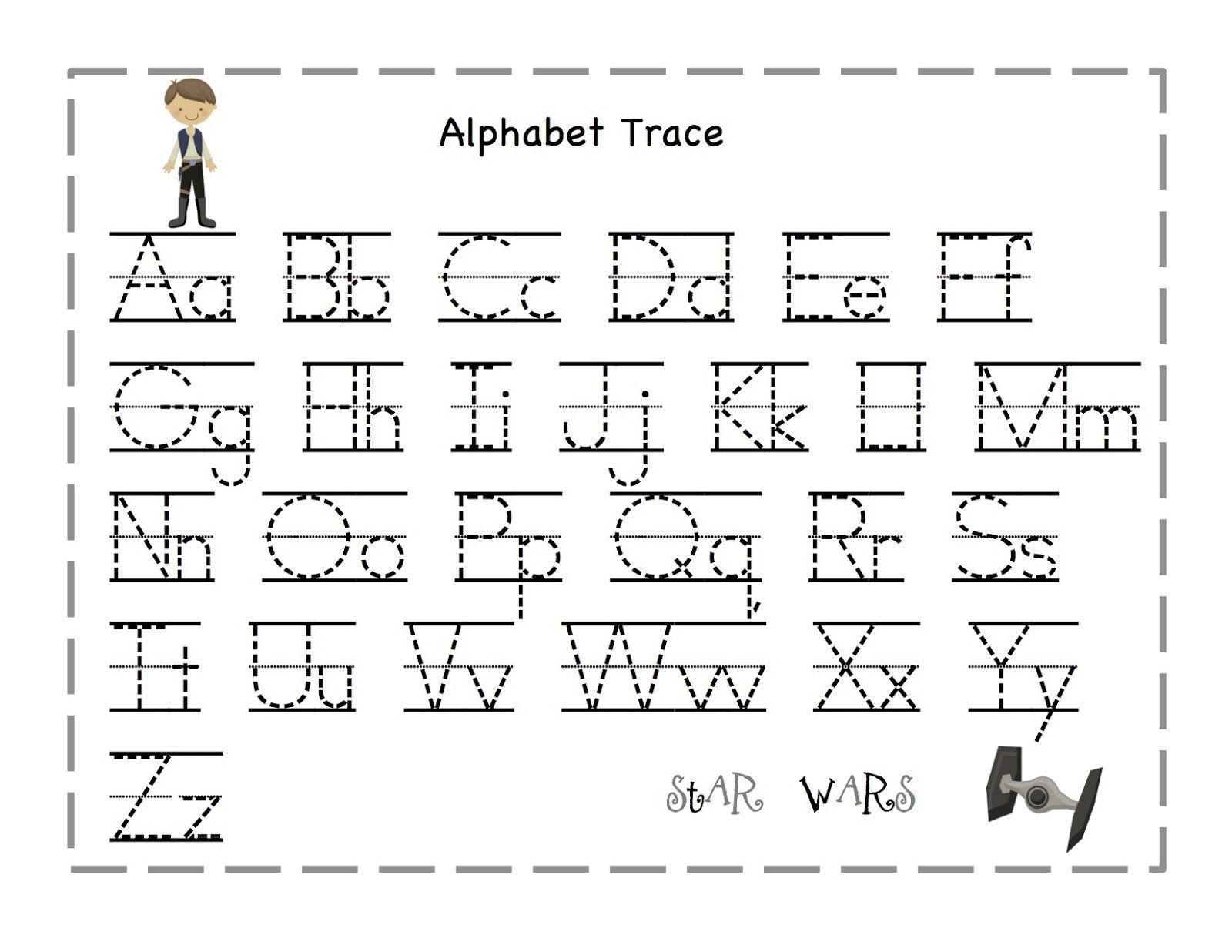 The Alphabet Tracing Preschool Worksheets Abc Tracing