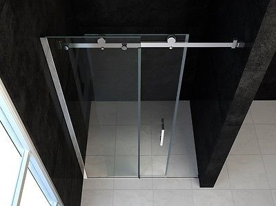 details zu echt glas rahmenlose nischentr dusche duschabtrennung mit schiebetr sc009 neu - Dusche Nischentur 60