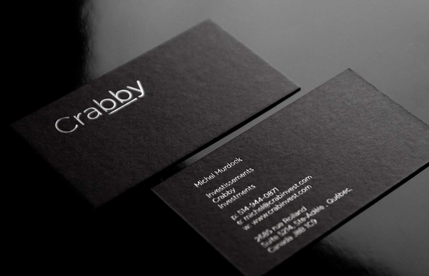 silver hot foil business card paper sirio black 450 g mq