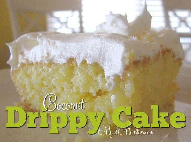 Coconut Drippy Cake