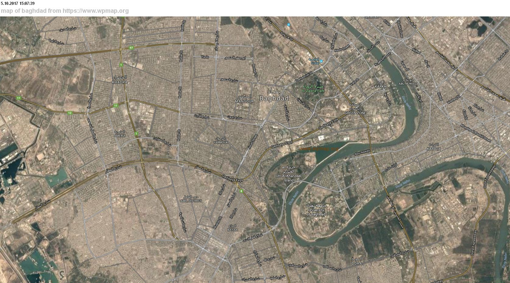 cool Map of baghdad     maps   Pinterest   Baghdad and Baghdad iraq cool Map of baghdad
