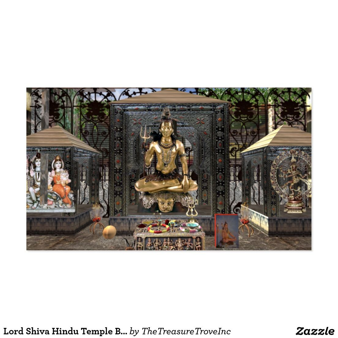Lord Shiva Hindu Temple Business Cards, 100 pack Business Card ...