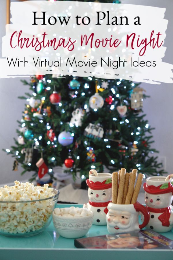 No matter the time of the year you can have a fun Christmas movie night to bring a bit of holiday magic to your day! These tips will help you plan the perfect night. And right now you can even have a virtual movie night with these tips. #MovieNight #Christmas #ChristmasMovies