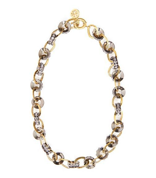 Rhinestone Chainlink Necklace | Womens Necklaces | ToryBurch.com