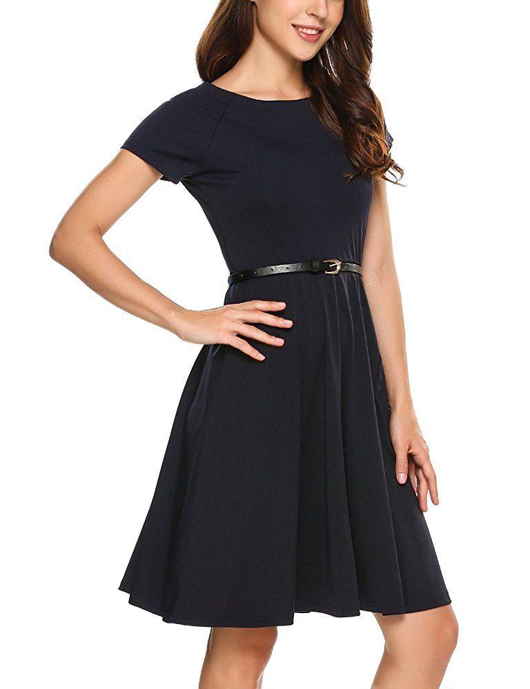 Shoppen Sie Zeagoo Damen Kleid Sommerkleid Cocktailkleid ...
