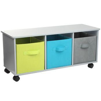 Petit meuble de rangement à Roulettes, L80 x P29 x H35 cm