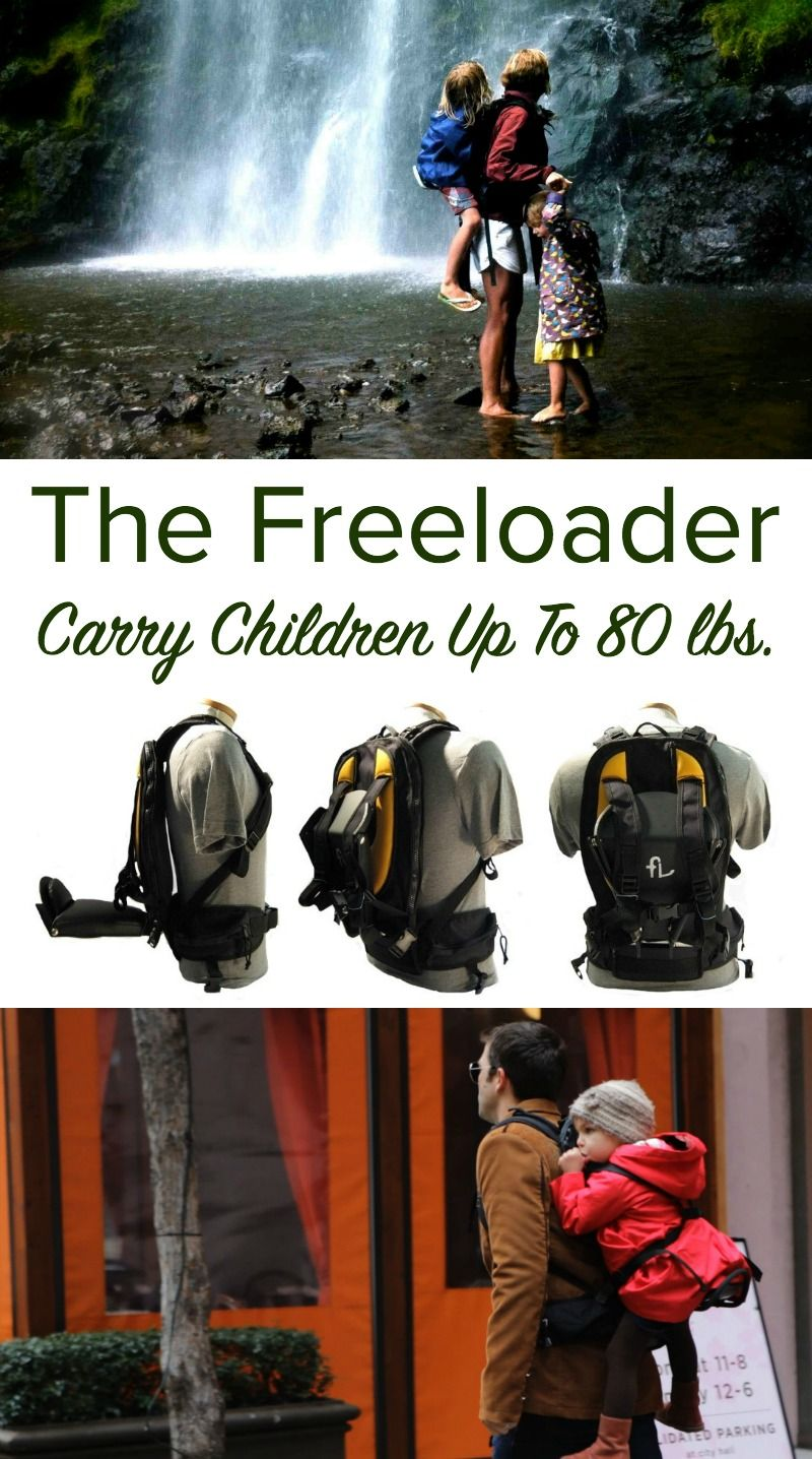 47879e75eca The Freeloader - Innovative Child Carrier for Toddlers and Bigger Children  - Use this backpack child carrier to carry kids up to 80 lbs. Sponsored.