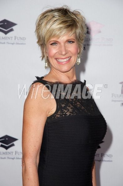 debbie boone hairstyles debby boone attends the songs shaggy short hair