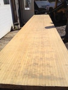 Bowling Lane Countertops Bowled Over Reclaimed Wood