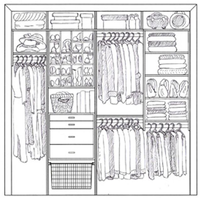 closet design drawing images to meet the needs of it's