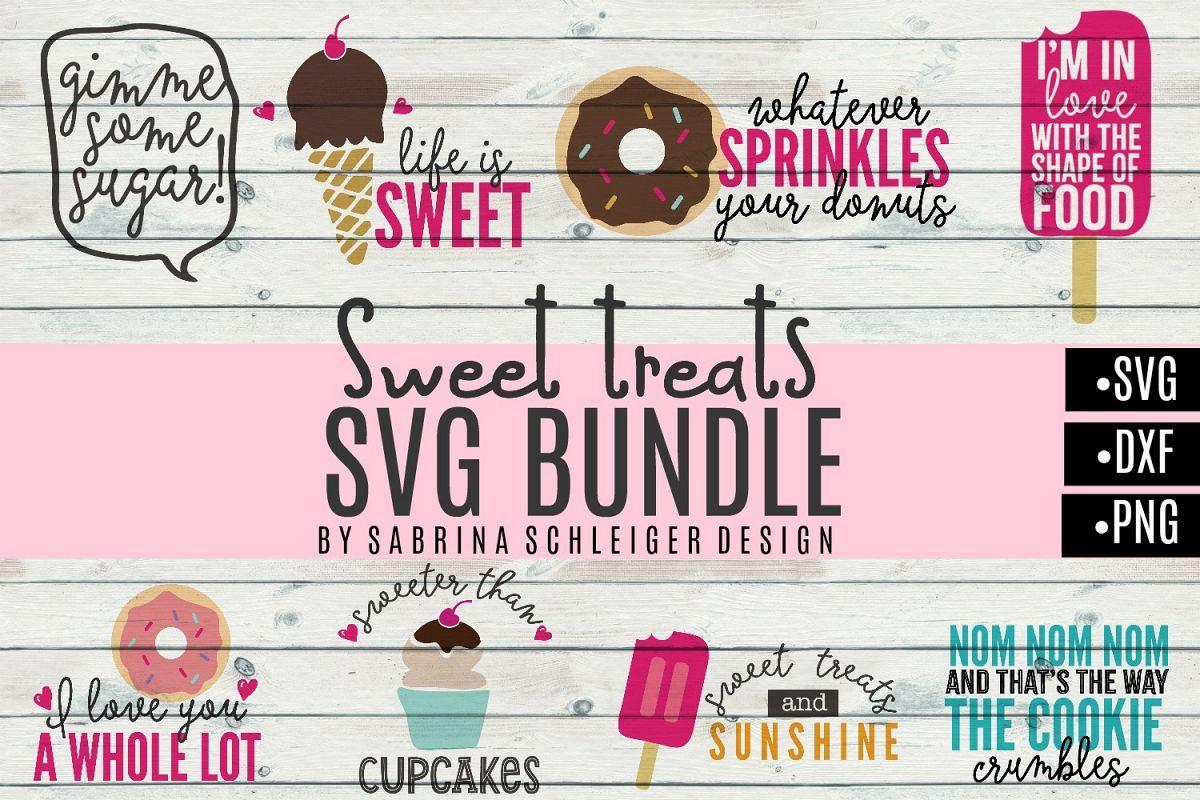 Download Sweet Treats SVG Bundle- Donut Cupcake Icecream Designs ...