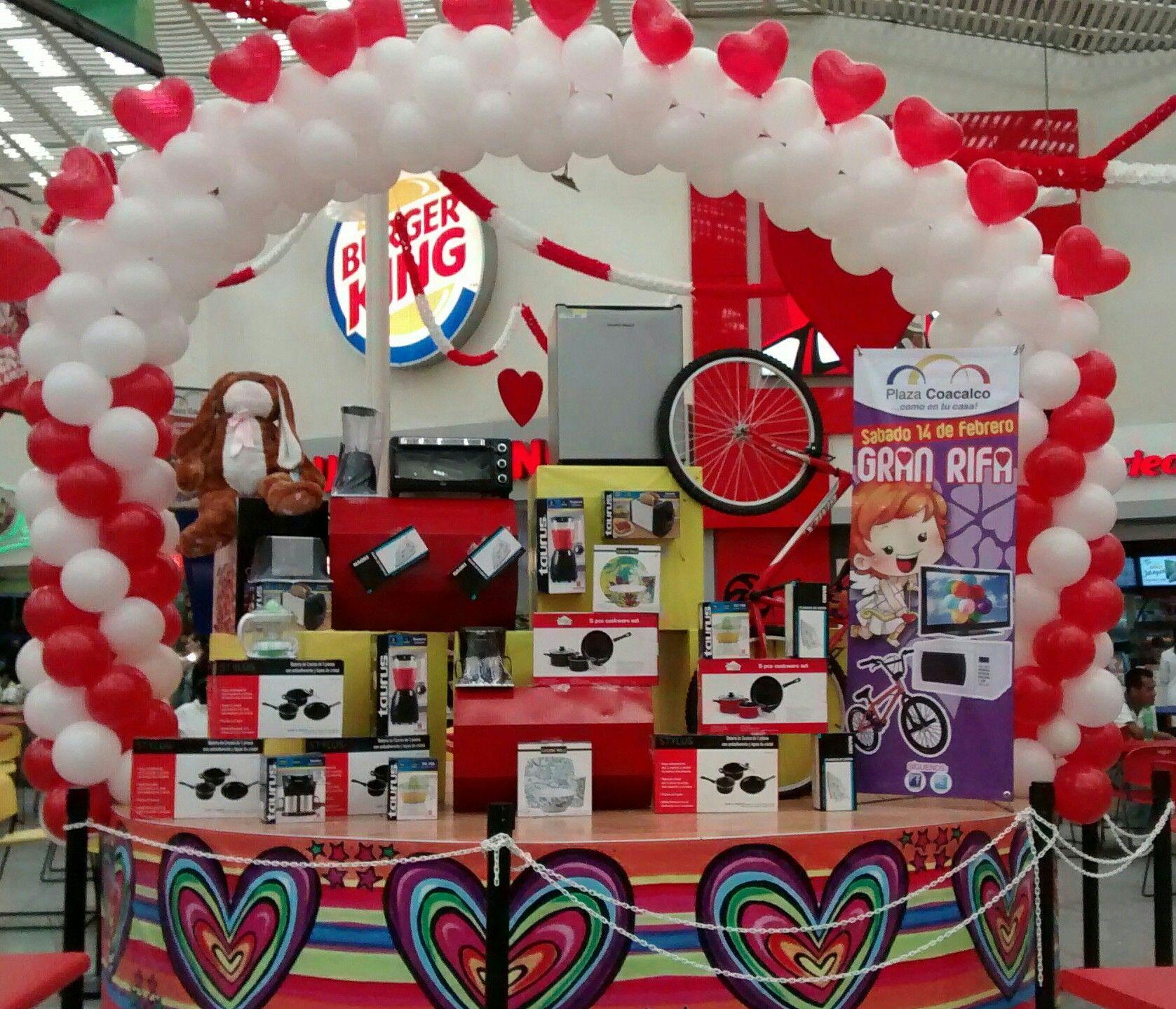 Decoraci n de premios con globos amor y amistad 14 de for Decoracion amor y amistad oficina