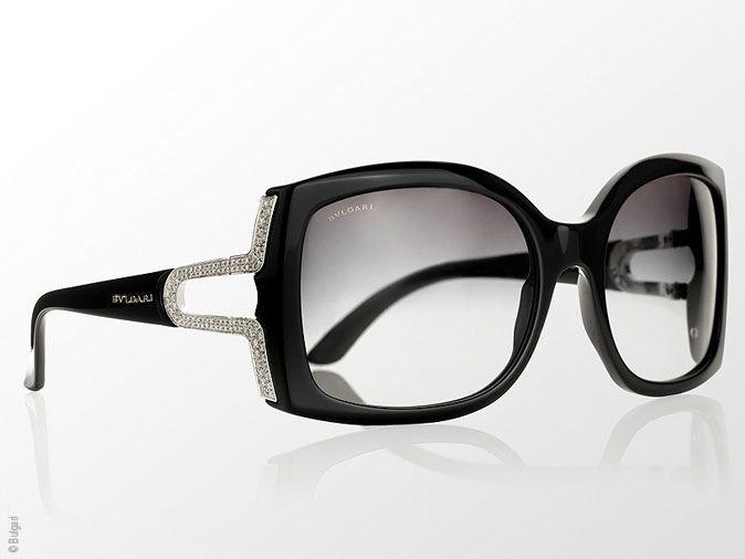 47df40dc38c50b lunettes de soleil bulgari femme   Lunettes de Soleil Bulgari Parentesi    Edition Or et Diamants