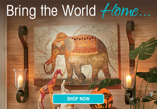 Bring the World Home - Capture earth's majesty in one-of-a-kind wonders.  Shop Global @seventhavenue.com
