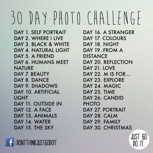 30 day photo challenge...I want to try it!