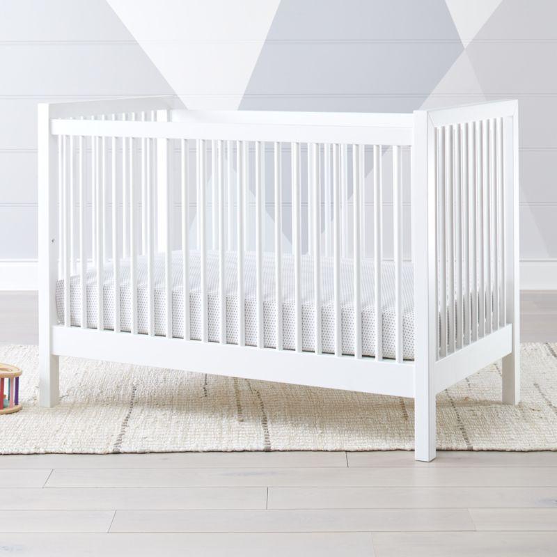 Andersen Ii White Wood Convertible Crib Reviews Crate And Barrel White Crib Cribs Modern Crib