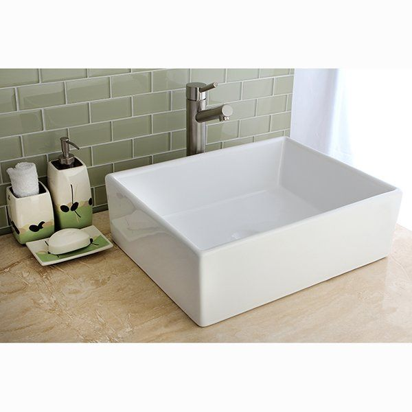 Elements Ceramic Rectangular Vessel Bathroom Sink in 2018 Tracy\u0027s