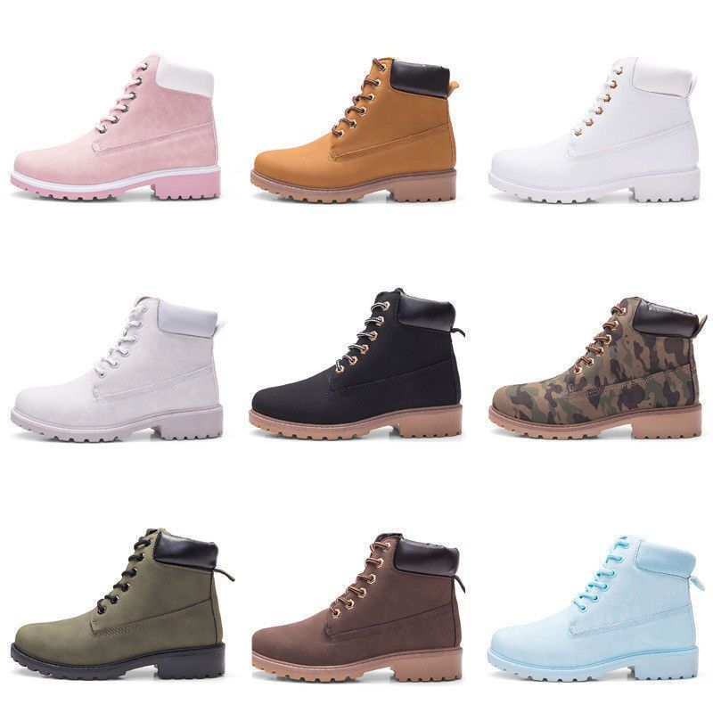 804373c1be32 Women s Winter Martin Ankle Boots Outdoor Work Casual Waterproof Lace Up  Shoes
