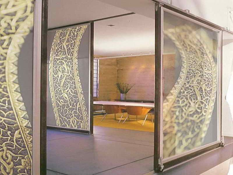 Elegant Digital Glass Wall Panels