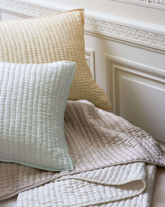 Annie Selke Luxe Standard Seta Quilted Silk Sham Cheap