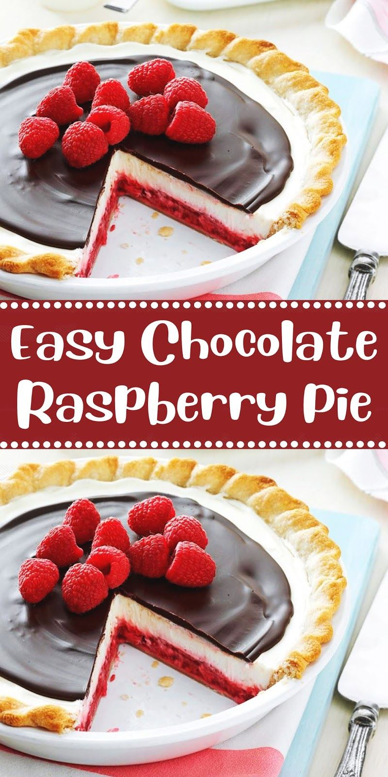 Easy Chocolate Raspberry Pie Resep Makanan Penutup Resep Biskuit Resep Masakan Natal