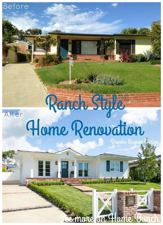 Ranch Style Home Renovation - Brooke Wagner Design | Ranch ... on stucco ranch home plans, retirement ranch home plans, concrete ranch home plans, building ranch home plans, crafts ranch home plans,