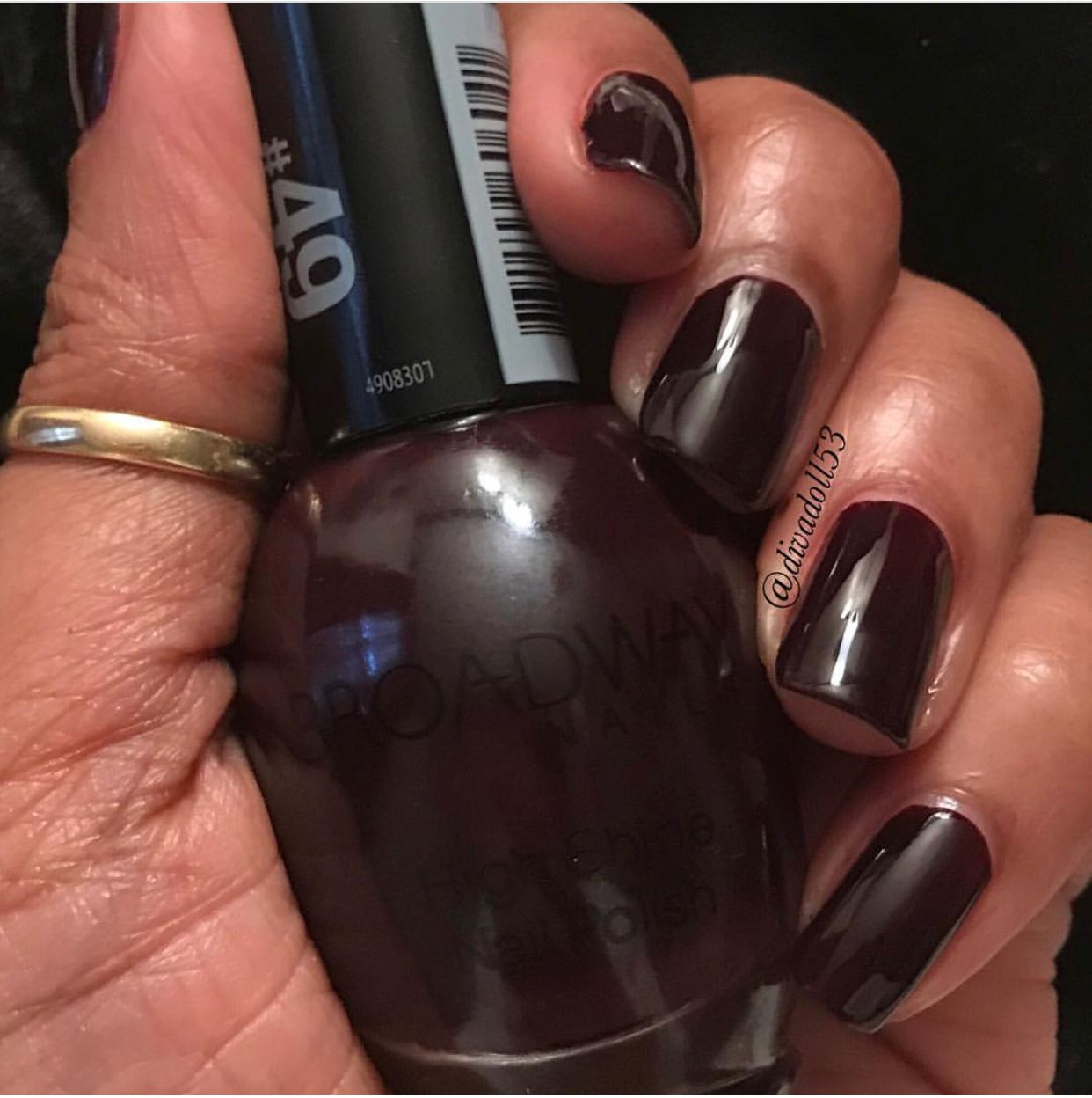 "Chocoholic"" by Broadway Nails. Polish Swatches on dark skin ..."