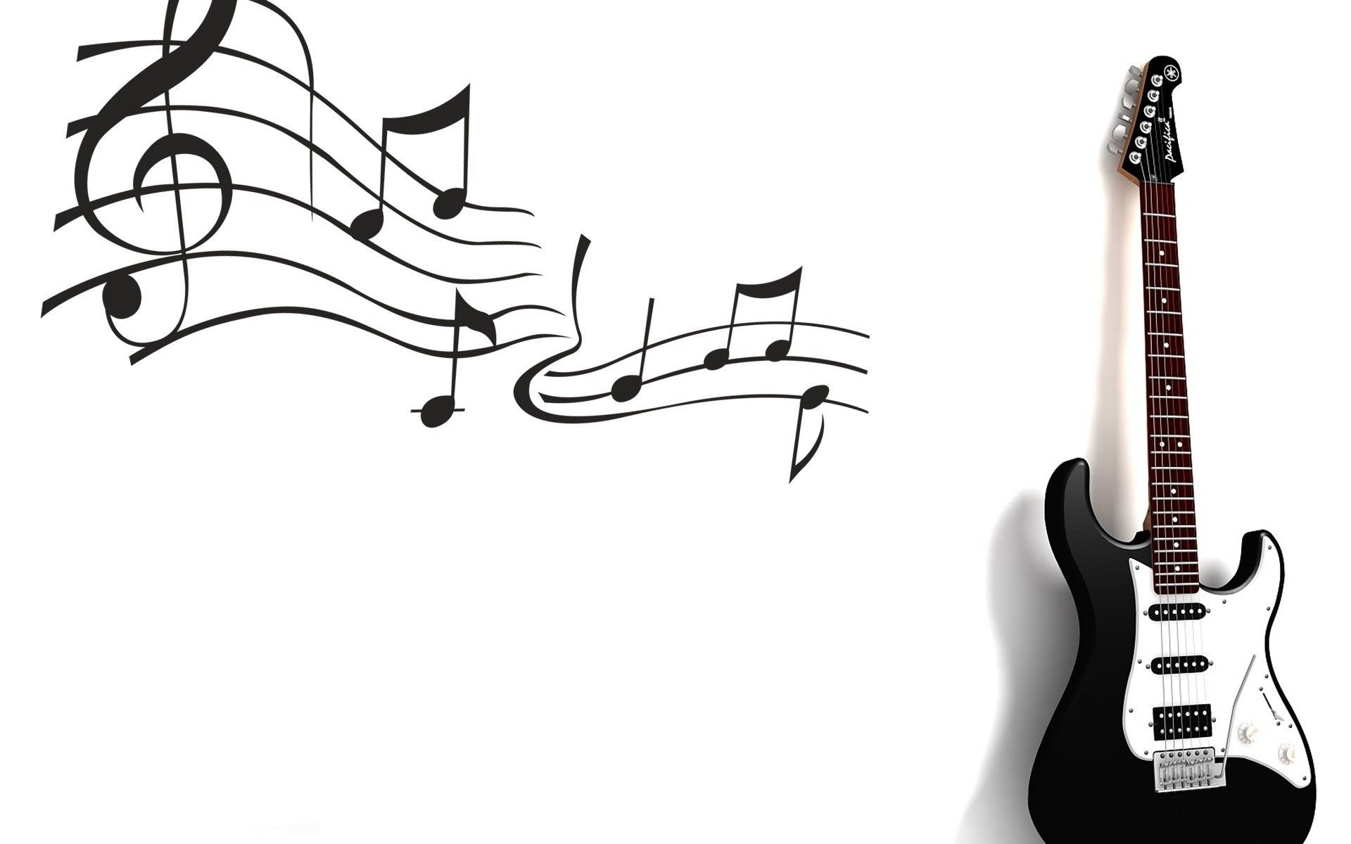 Black And White Guitar Music Notes Wallpaper Id 3100 Download Page Music Wallpaper Guitar Music Notes Drawing