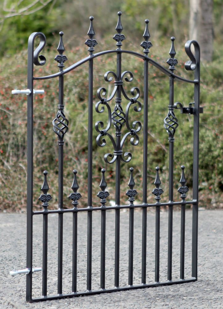 Details About Wrought Iron Metal Garden Gate Top Quality To Fit