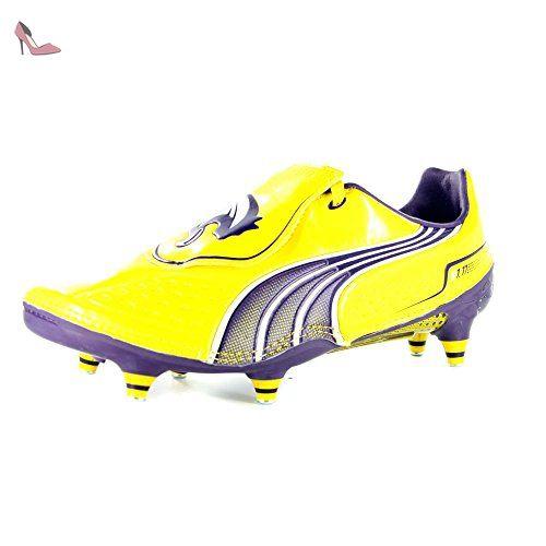 the best attitude 85a90 ada11 Puma Hommes V1.11 SG Un Sol Mou Jaune Chaussures De Football-Yellow-