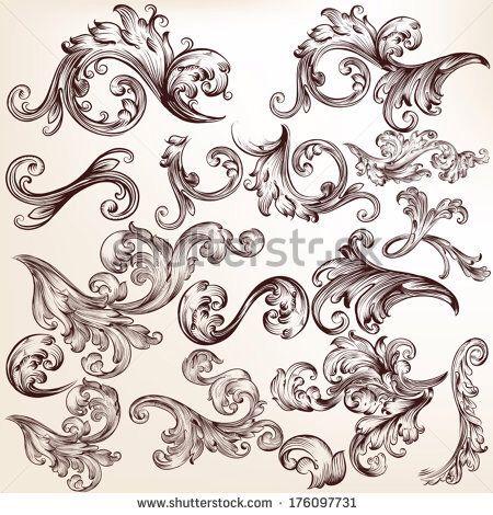 victorian filigree ink pinterest tatuajes ornamentos y filigrana. Black Bedroom Furniture Sets. Home Design Ideas