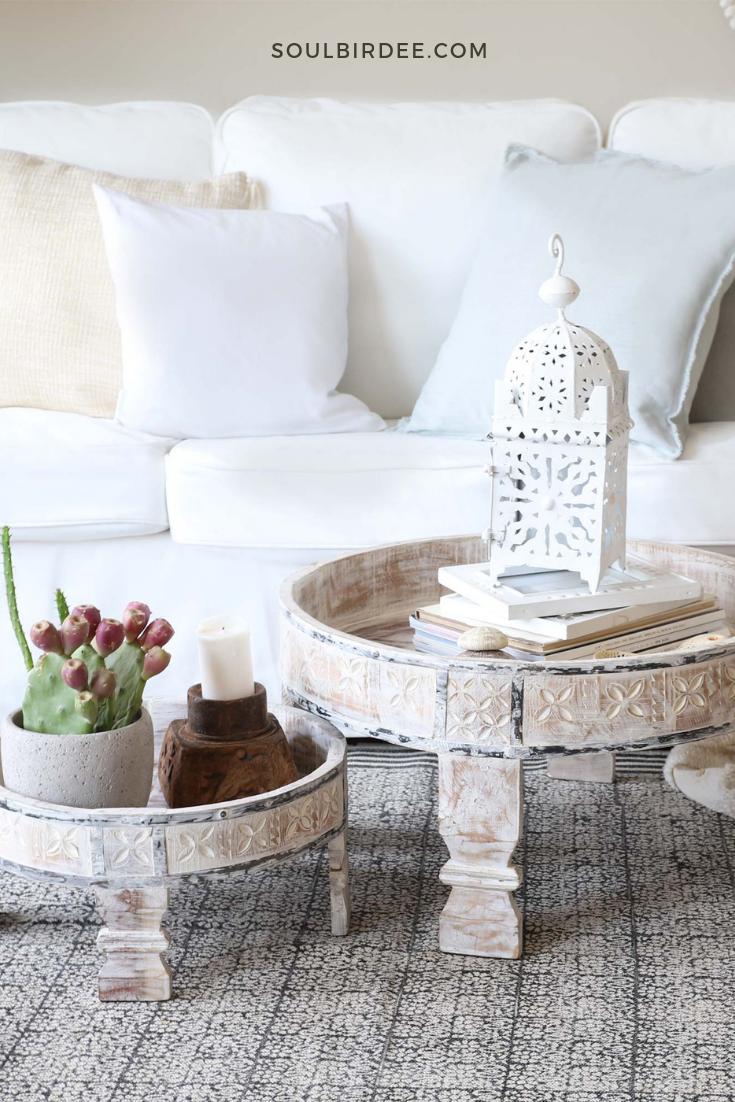 Chakki Tisch Set Aus Indien Im Vintage Boho Look Indische Tische Grinder Aus Holz Decor Oriental Interior Coffee Table [ 1102 x 735 Pixel ]