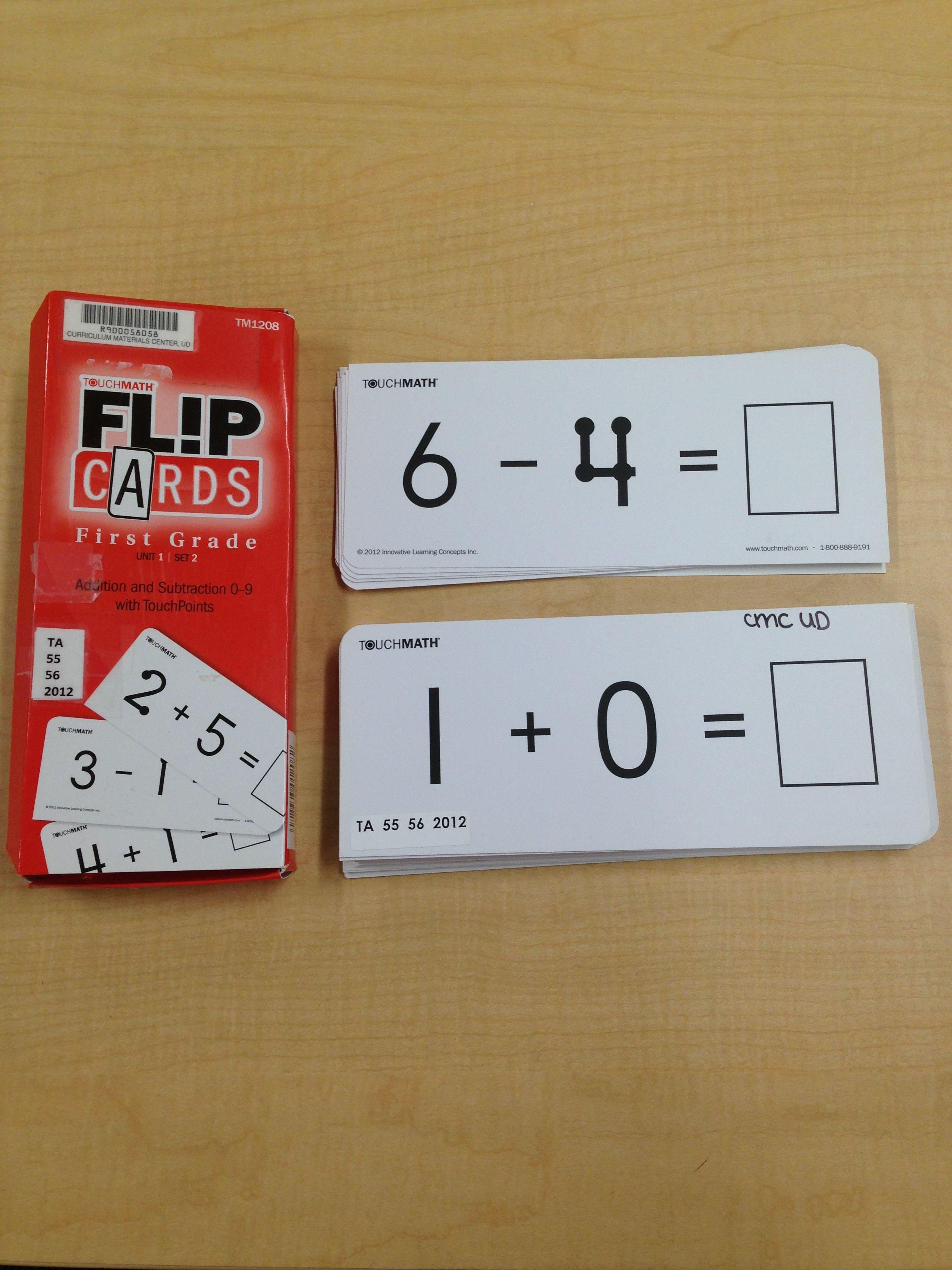 TouchMath flip cards: addition and subtraction 0-9 with TouchPoints ...