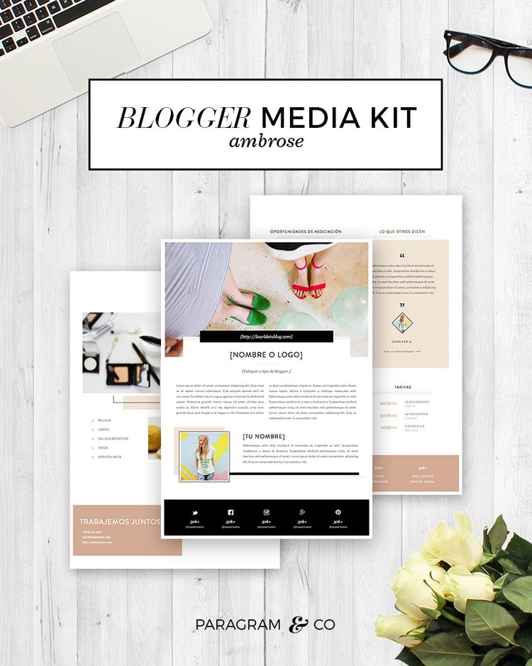 Blogger Media Kit Ambrose Media kit, Ad rates and Media kit - rate sheet template