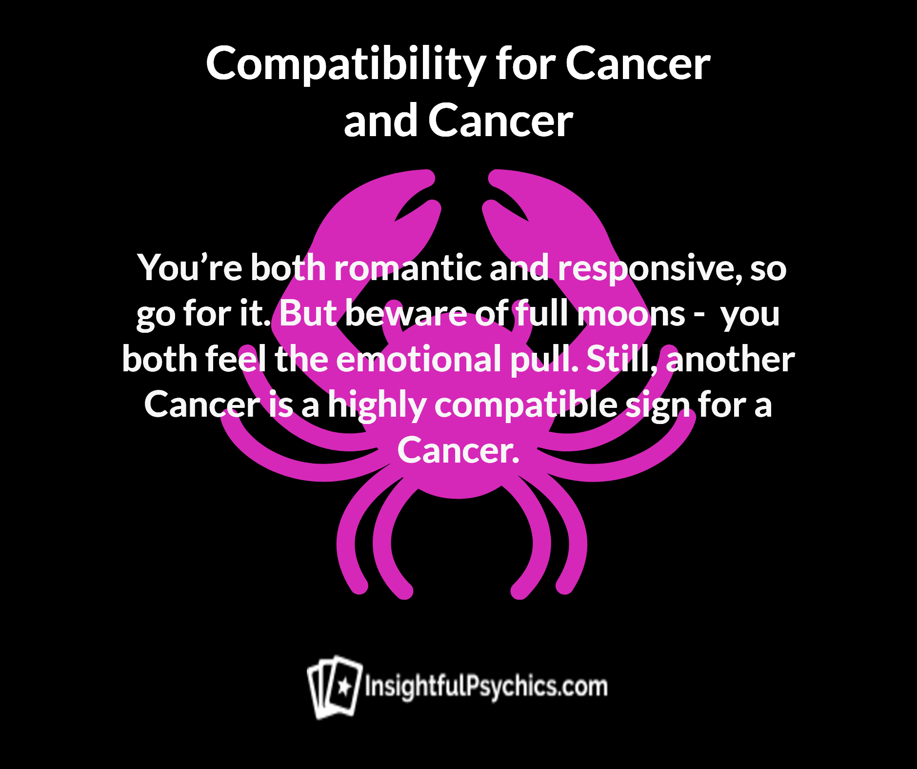Is cancer and cancer compatible
