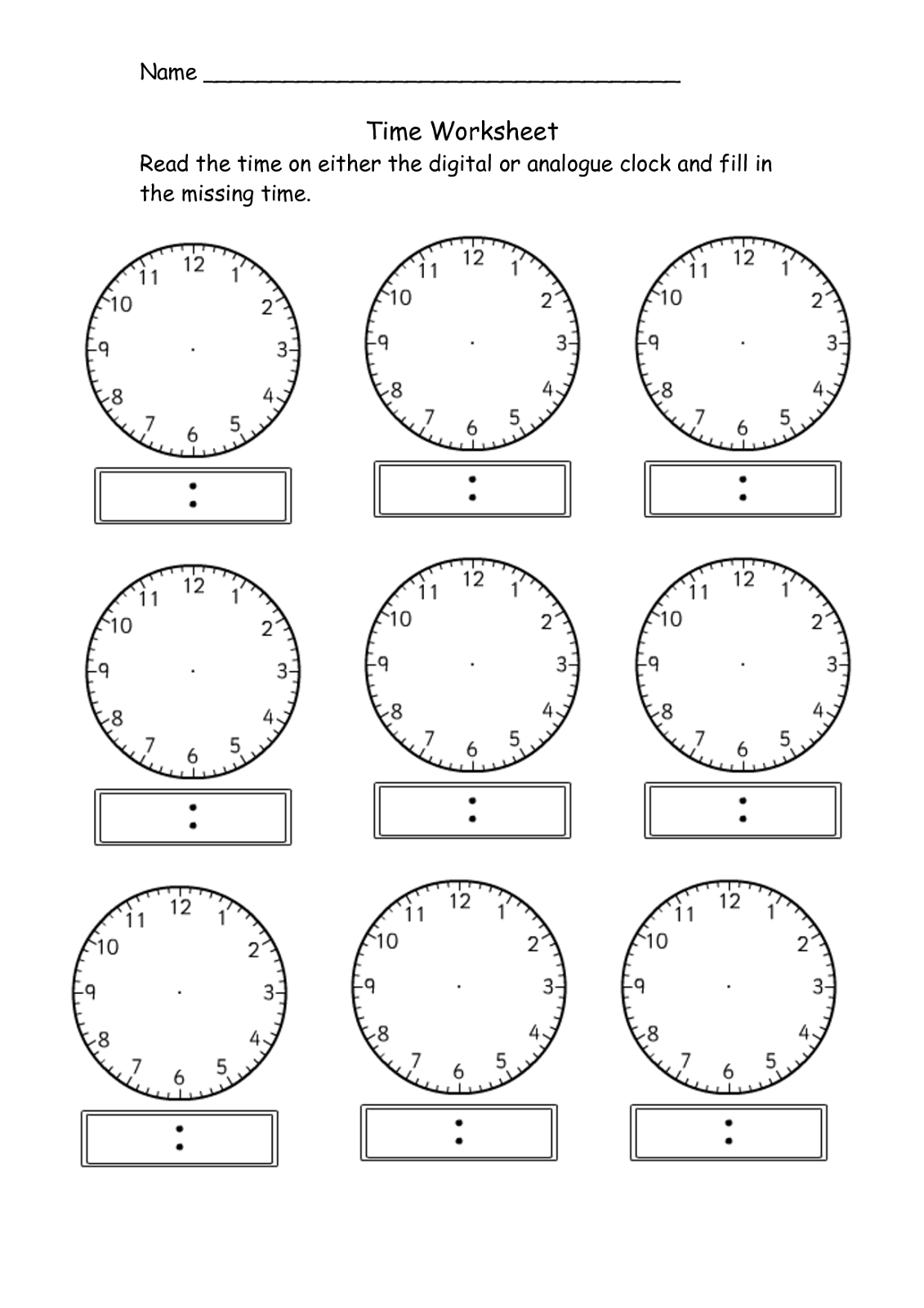 Time Elapsed Worksheets to Print | Activity Shelter | Kids ...