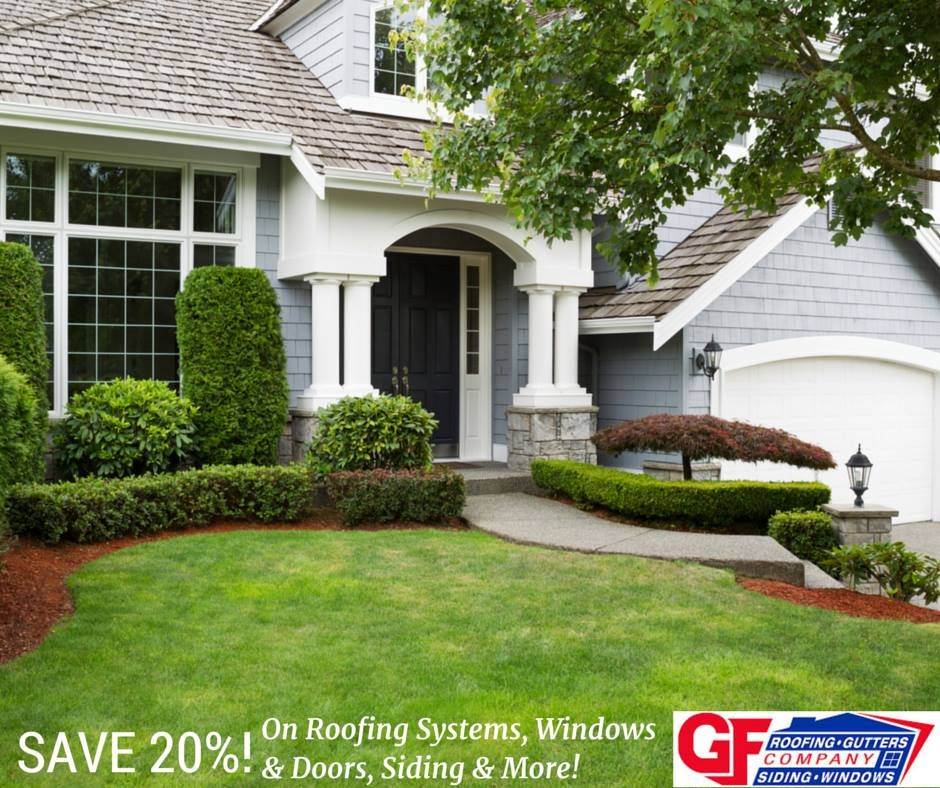 Right Now You Can Save 20 On Any Of Our Home Exterior Products