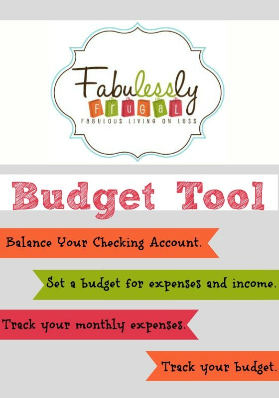 2016 Budget Tool | Budget programs, Frugal and Frugal living