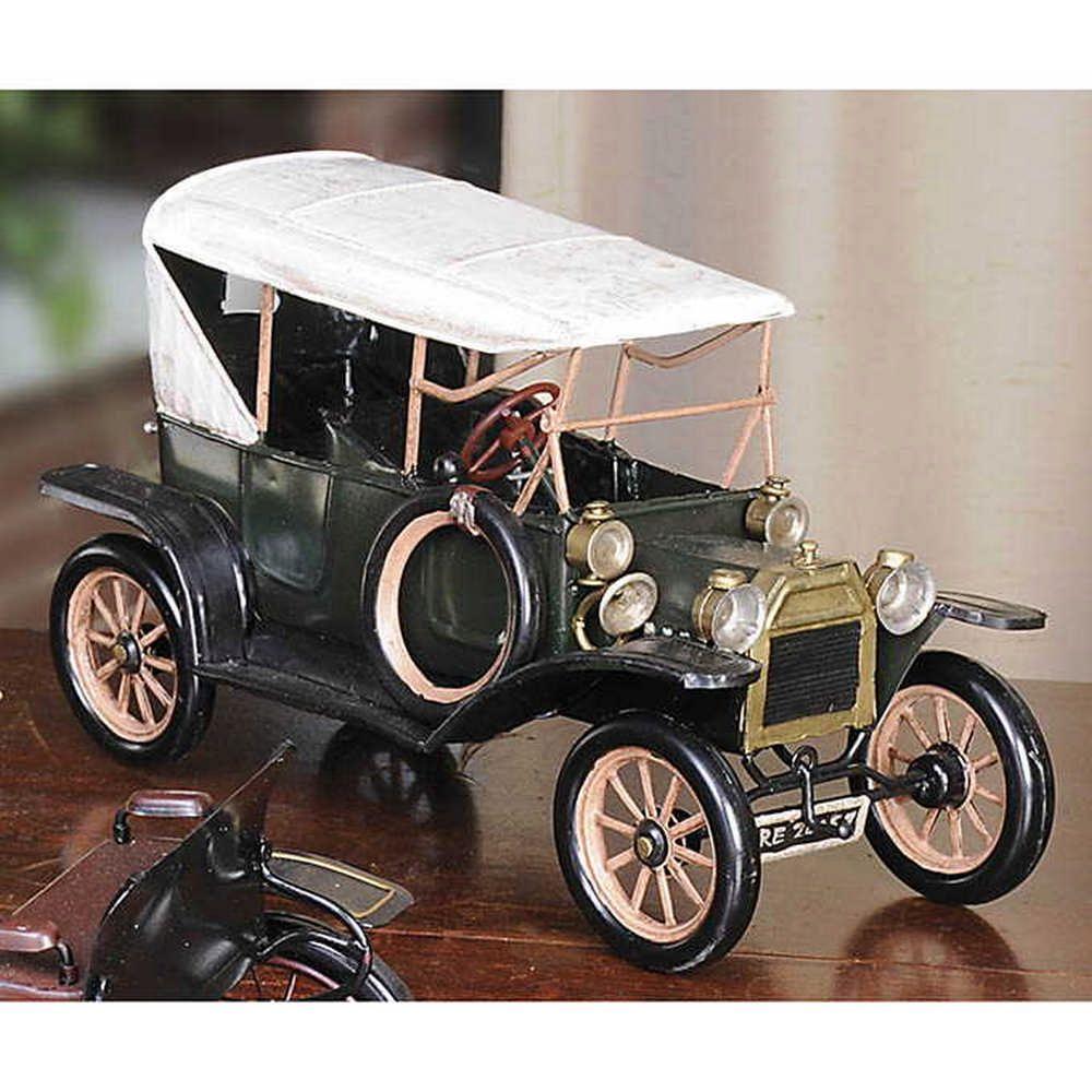 "1920s Ford Model T Tin Lizzie Metal Car Model 11.5/"" Automobile Automotive Decor"