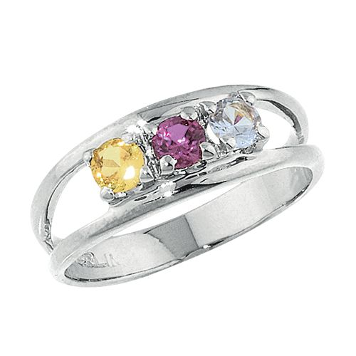 faa1b1654 Custom Birthstone Family Ring - 5 Stones. Let the whole family know you  care, with this Five Stone Single Wave Swarovski Crystal ...