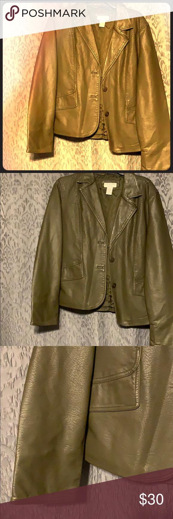 Covington Leather Jacket Covington Size Large Green Leather Jacket Perfect Condition Barely Worn Covington Jacke Green Leather Jackets Leather Jacket Jackets [ 1740 x 580 Pixel ]