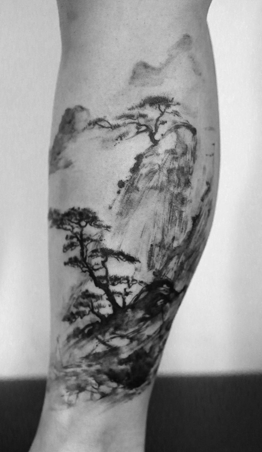Related Image Painting Tattoo Bonsai Tattoo Tattoos