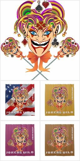0 1 Las Vegas Jokers Wild Shower Curtain