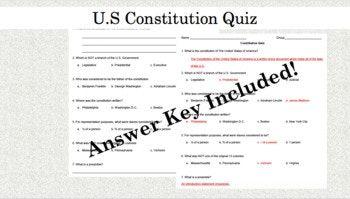 Constitution Quiz | Constitution quiz, Constitution, Quiz ...
