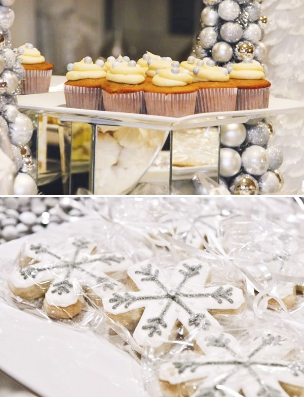 Silver White Dessert Table Party Themed Desserts And Decor