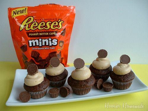 peanut butter cup mini cupcakes