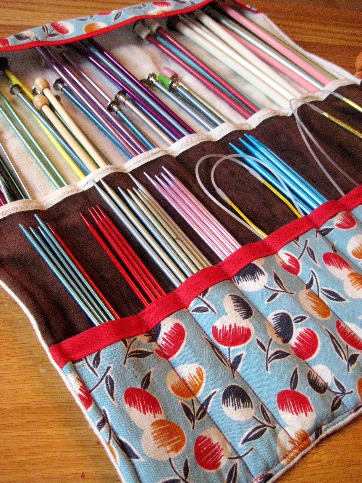 Knitting Needle Roll | Crochet, Sewing projects and Needle case