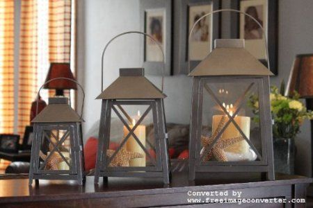 Amazon.com: 3pc Nantucket Pewter Outdoor Lanterns: Patio, Lawn U0026 Garden